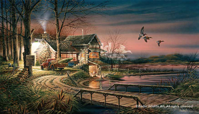 Terry Redlin Terry Redlin Limited Edition Print on Paper Hunter's Haven AP