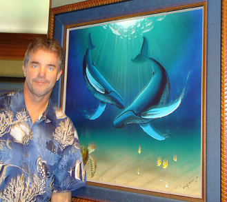 Wyland Wyland Limited Edition Giclee on Canvas In the Company of Whales
