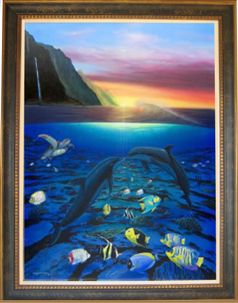 Wyland Wyland Limited Edition Giclee on Canvas Kiss for the Sea