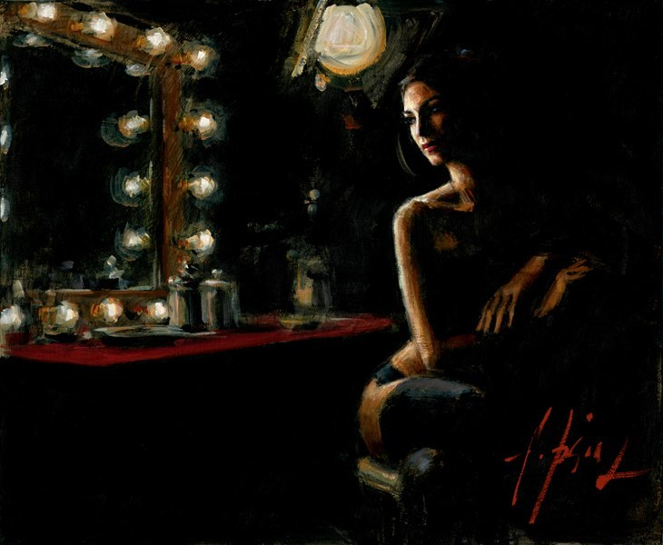 Fabian Perez Fabian Perez Limited Edition Giclee on Canvas La Trastienda