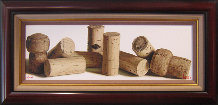 Wine Art Thomas Arvid Limited Edition Giclee on Canvas Les Bouchons (SN)