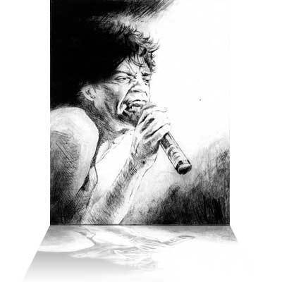 Ronnie Wood Ronnie Wood Limited Edition Print Mick Jagger