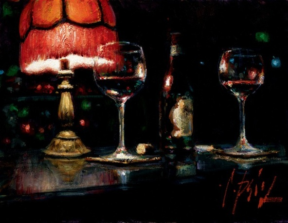 Fabian Perez Fabian Perez Limited Edition Giclee on Canvas Noches de Malavida II