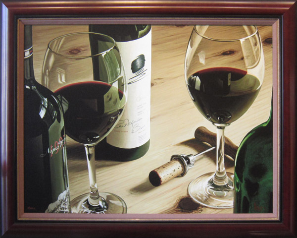 Wine Art Thomas Arvid Limited Edition Giclee on Canvas Oakville Crossing