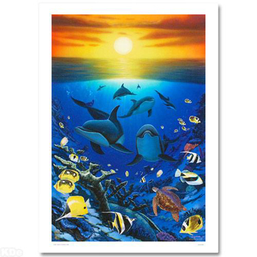 Wyland Wyland Limited Edition Giclee on Canvas Ocean Calling