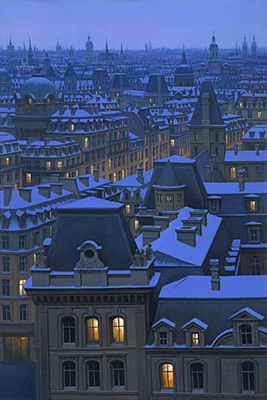 Alexei Butirskiy Alexei Butirskiy Limited Edition Giclee on Canvas Parisian Winter
