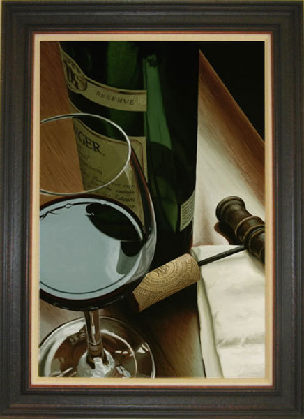 Wine Art Thomas Arvid Limited Edition Giclee on Canvas Private Study (SN)