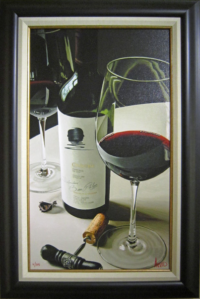 Wine Art Thomas Arvid Limited Edition Giclee on Canvas Product of the U.S.A. (SN)