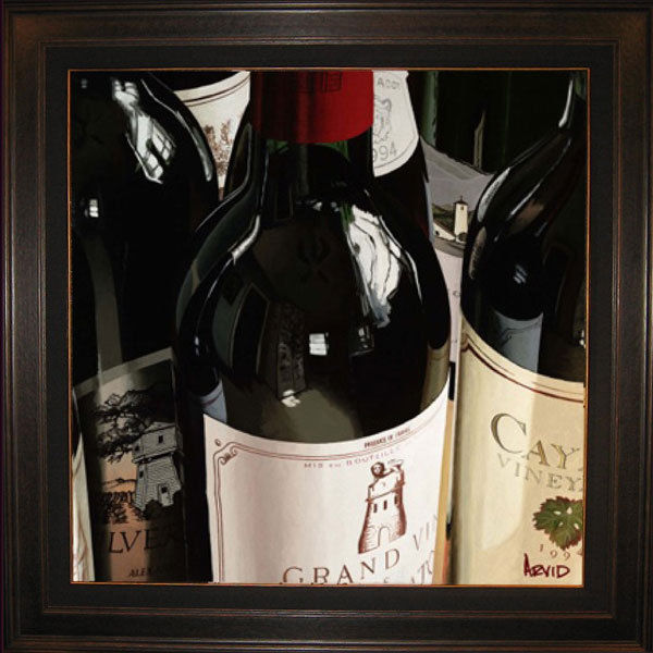 Wine Art Thomas Arvid Limited Edition Giclee on Canvas Reflections (AP) Hand Enhanced