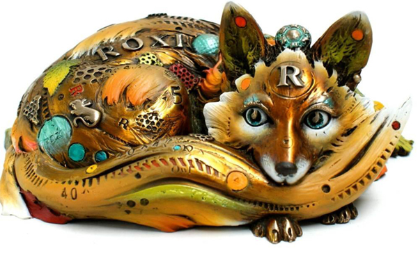 Nano Lopez Nano Lopez Bronze Sculpture Roxy - The Fox (medium works)