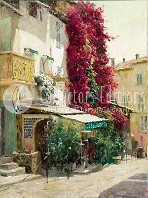 Fine Artwork On Sale Leonard Wren Limited Edition Giclee on Canvas St. Tropez