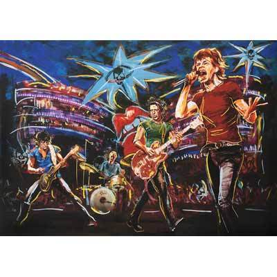 Ronnie Wood Ronnie Wood Limited Edition Print on Paper Skulls on Stage