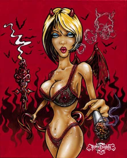 Bone Daddy Bone Daddy Limited Edition Giclee on Canvas Smokin' Hot
