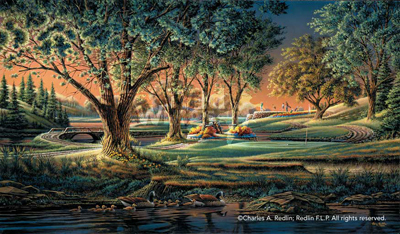 Terry Redlin Terry Redlin Limited Edition Print on Paper Spring on the Greens