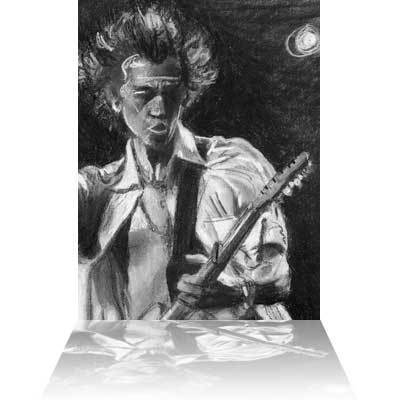 Ronnie Wood Ronnie Wood Limited Edition Etching Study for Keith I