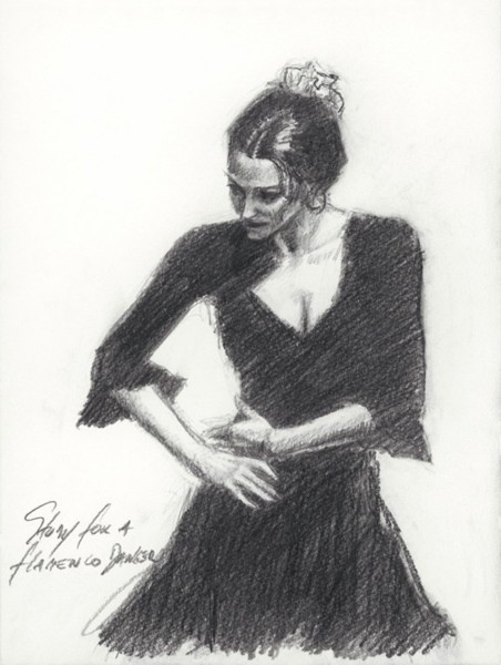 Fabian Perez Fabian Perez Limited Edition Giclee on Paper Study for Flamenco Dancer - Paper