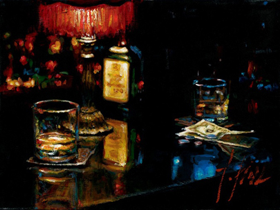 Fabian Perez Fabian Perez Limited Edition Giclee on Canvas Study for Noches de Malavida
