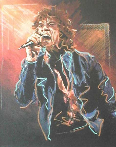 Ronnie Wood Ronnie Wood Limited Edition Print Study for Mick II