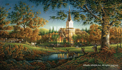 Terry Redlin Terry Redlin Limited Edition Print on Paper Sunday Morning AP