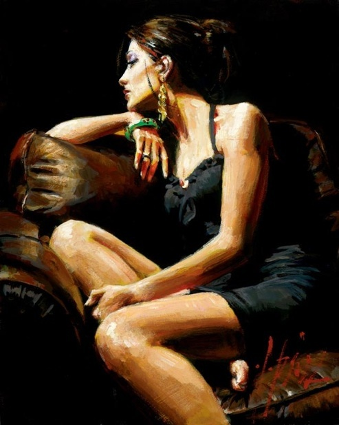 Fabian Perez Fabian Perez Limited Edition Giclee on Canvas The Living Room IV