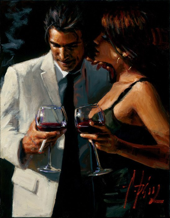 Fabian Perez Fabian Perez Limited Edition Giclee on Canvas The Proposal XII