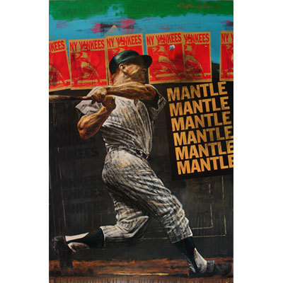 ... Holland Limited Edition Giclee on Canvas The Mick (Mickey Mantle