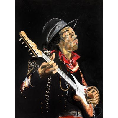 Ronnie Wood Ronnie Wood Limited Edition Print on Paper Then: Foxy Jimi