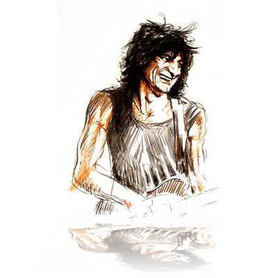 Ronnie Wood Ronnie Wood Limited Edition Print Voodoo Ronnie