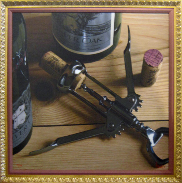 Wine Art Thomas Arvid Limited Edition Giclee on Canvas Winding Down (SN)