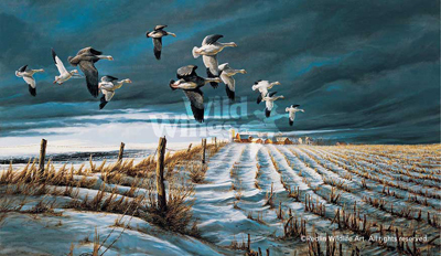 Terry Redlin Terry Redlin Limited Edition Print on Paper Winter Snows