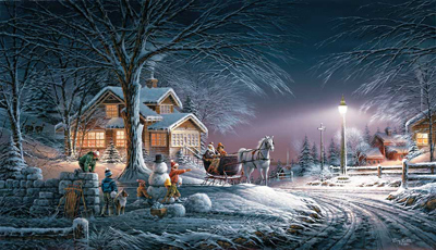 Terry Redlin Terry Redlin Limited Edition Print on Paper Winter Wonderland AP