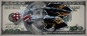Michael Godard Art & Prints Michael Godard Art & Prints $100 Bill w/ Snake Eyes (Mural)