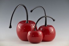 Donald Carlson Donald Carlson Red Cherries - Bent Stem