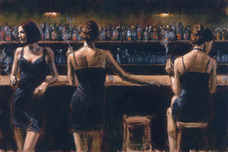 Fabian Perez Fabian Perez Study For 3 Girls in Bar
