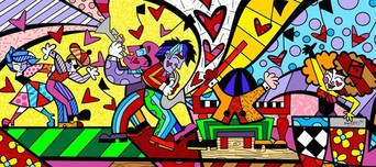 Romero Britto Art Romero Britto Art Music II (SN)