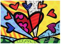 Romero Britto Art Romero Britto Art A New Day (Mini) (Framed)