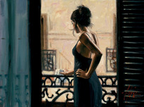 Fabian Perez Fabian Perez At The Balcony