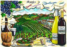 Charles Fazzino 3D Art Charles Fazzino 3D Art A Tasting In Wine Country (DX)