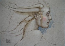 Michael Parkes Art Michael Parkes Art Angel Study