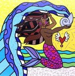 Romero Britto Art Romero Britto Art Aquarius - Black (SN)