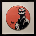 Ringo Starr Ringo Starr Bandanna Man with Paint Can Drum Head (Framed)