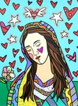 Romero Britto Art Romero Britto Art Beautiful Mary