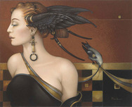 Michael Parkes Art Michael Parkes Art Black Orchid