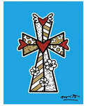 Romero Britto Art Romero Britto Art Blessings (Blue, White, Gold)