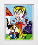 Romero Britto Art Romero Britto Art Boy and His Dog