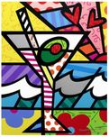 Romero Britto Art Romero Britto Art Britto Martini (Framed)
