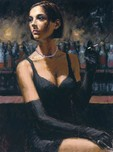 Fabian Perez Fabian Perez Brunette at the Bar II