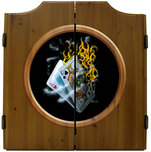 Michael Godard Art & Prints Michael Godard Art & Prints Dart Cabinet - Burning Blackjack