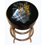 Michael Godard Art & Prints Michael Godard Art & Prints Bar Stool - Burning BlackJack
