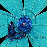 Michael Godard Art & Prints Michael Godard Art & Prints Butterfly, Teal Flower